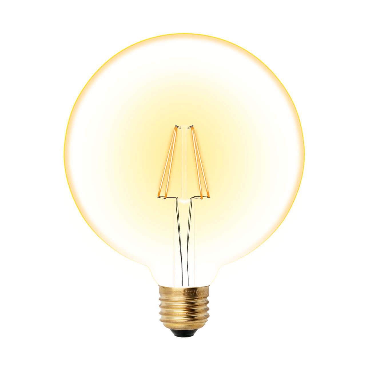 Лампочка Uniel LED-G125-8W/GOLDEN/E27 GLV21GO Vintage лампа светодиодная филаментная ul 00001818 uniel e27 4w 2250k прозрачная led g95 4w golden e27 cw glv21go