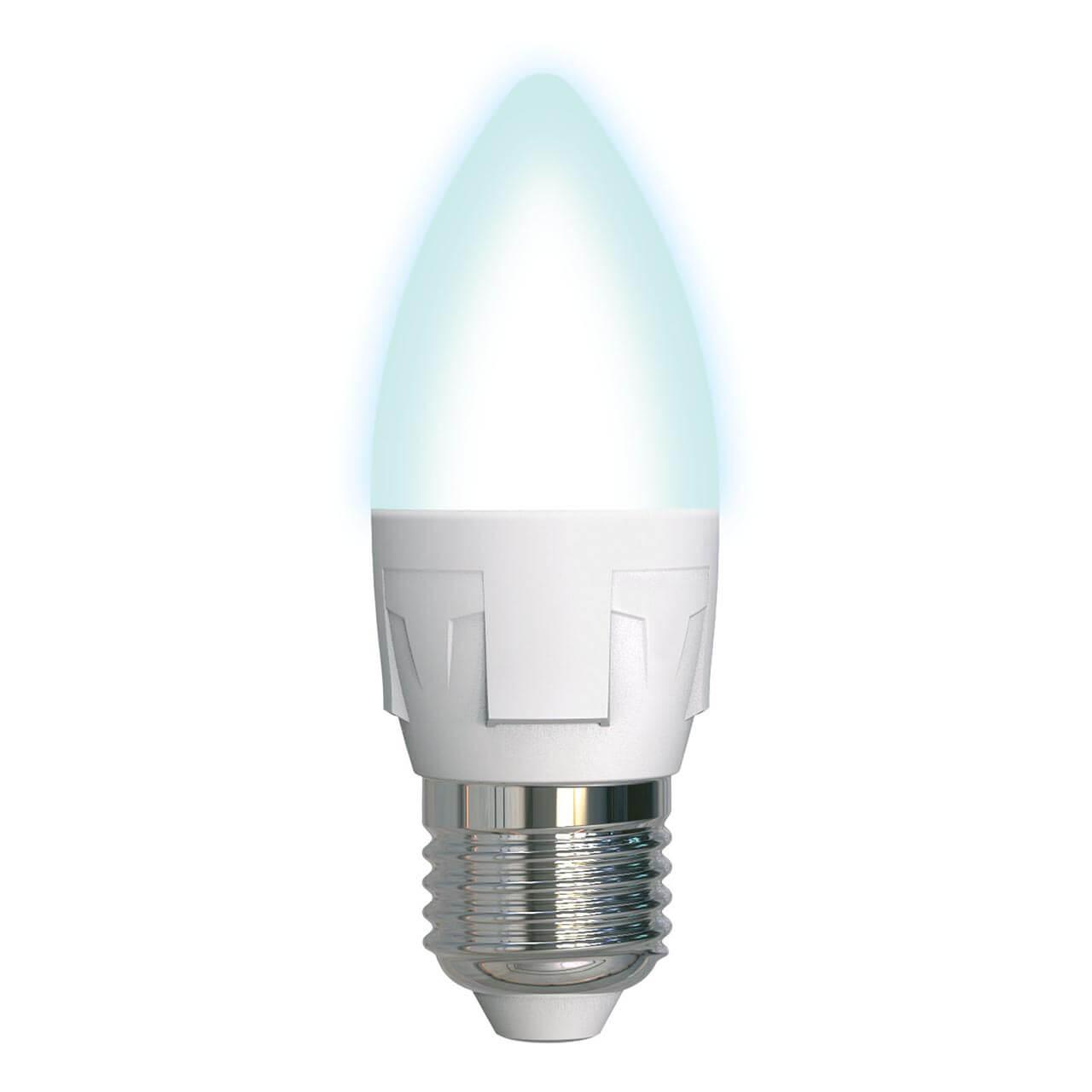 цена на Лампа светодиодная диммируемая (UL-00004295) E27 7W 4000K матовая LED-C37 7W/4000K/E27/FR/DIM PLP01WH