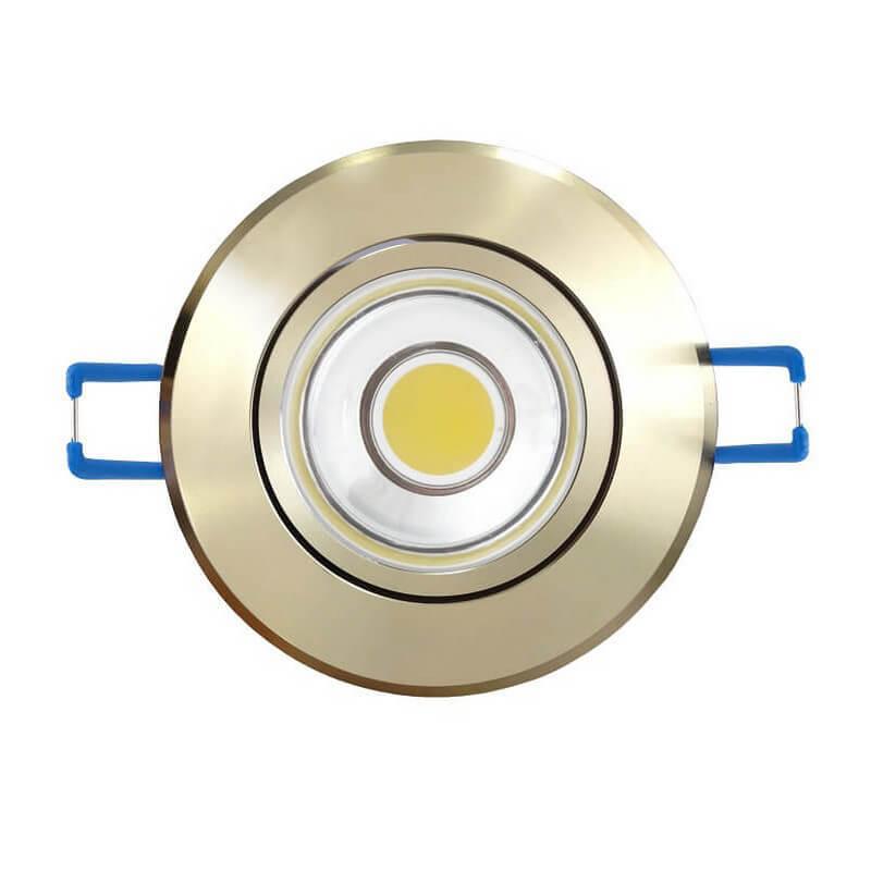 Светодиодный встраиваемый светильник (08788) Uniel 4500K ULM-R31-5W/NW IP20 Gold цены