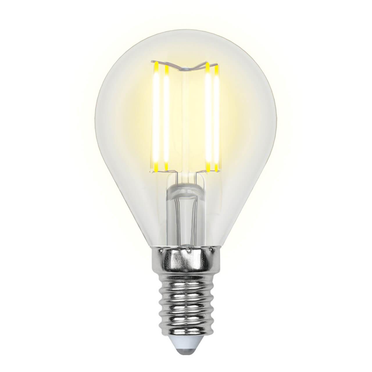 Лампочка Uniel LED-G45-6W/WW/E14/CL GLA01TR AIR G