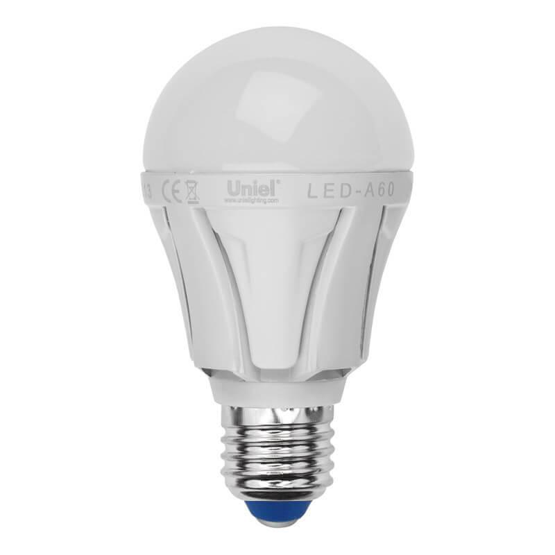 Лампа светодиодная (UL-00001525) Uniel E27 10W 4000K матовая LED-A60 10W/NW/E27/FR PLP01WH
