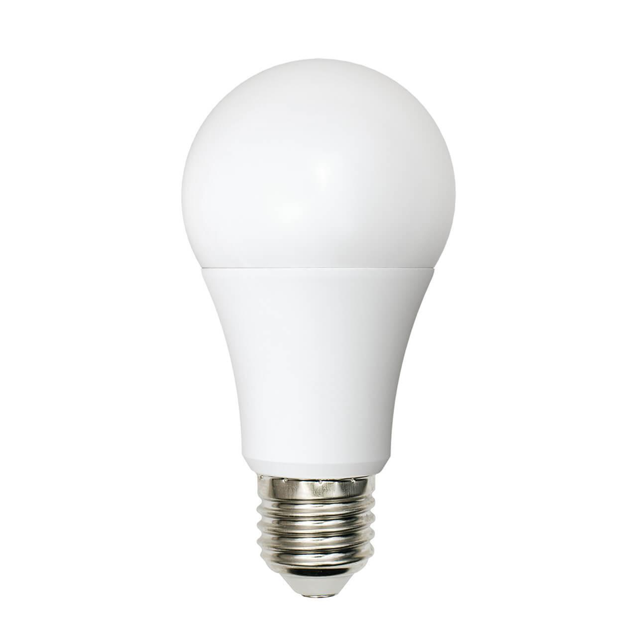 Лампа светодиодная (UL-00001569) Uniel E27 9W 4000K матовая LED-A60-9W/WW+NW/E27/FR PLB01WH