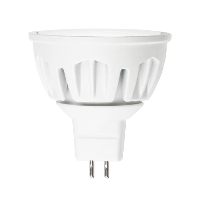 Лампа светодиодная (08147) Uniel GU5.3 7W 3000K JCDR матовая LED-JCDR-7W/WW/GU5.3/FR ALM01WH цены