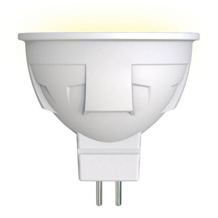 Лампа светодиодная диммируемая (UL-00003991) Uniel GU5.3 6W 3000K матовая LED-JCDR 6W/WW/GU5.3/FR/DIM PLP01WH