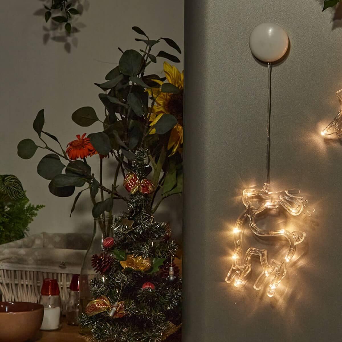 Светильник Uniel ULD-H1419-010/STA/3AAA Warm White IP20 Deer Новогодний подвес