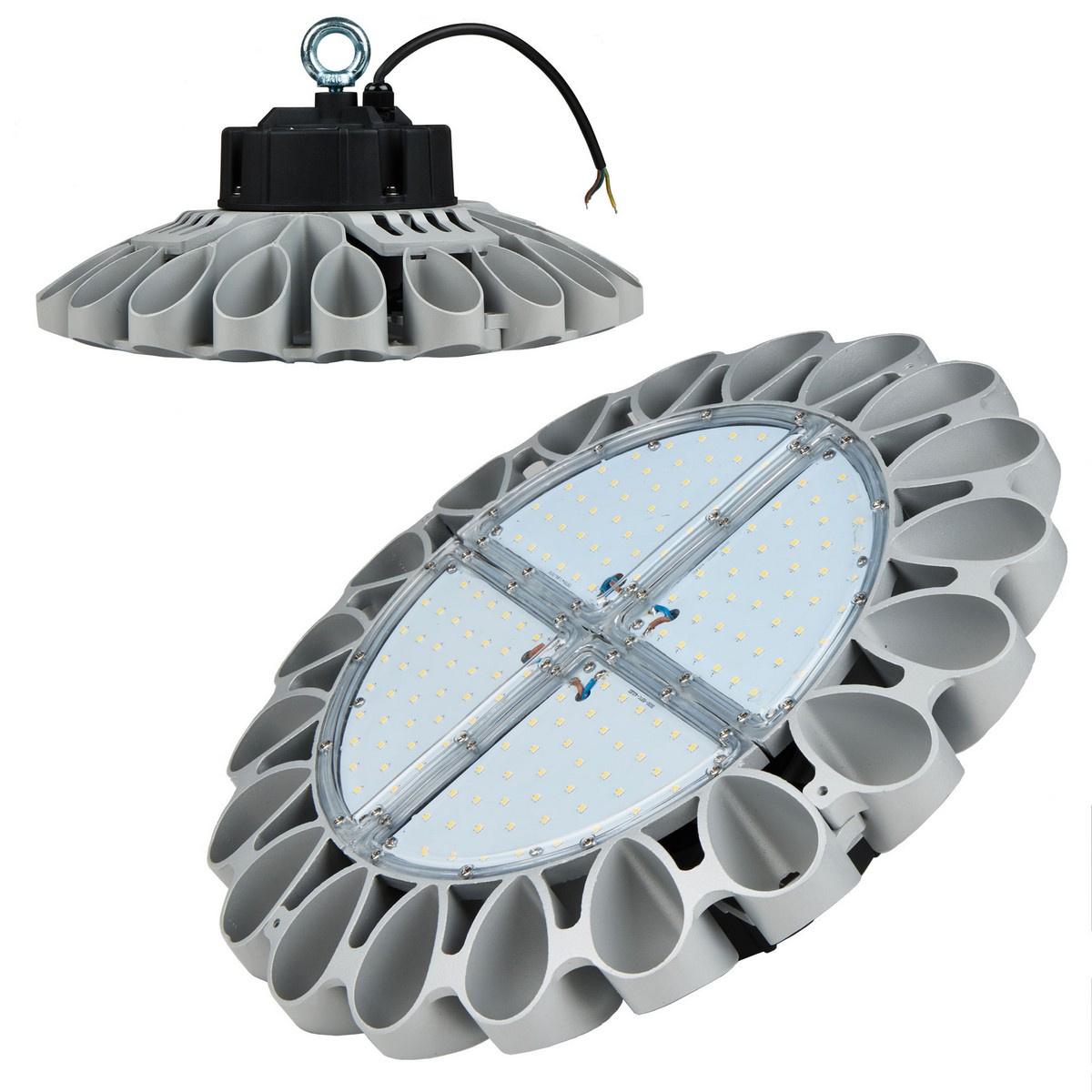 Подвесной светодиодный светильник (UL-00001709) Uniel ULY-U30B-240W/NW IP65 Silver подвесной светодиодный светильник ul 00002057 uniel uly u30b 100w dw ip65 silver