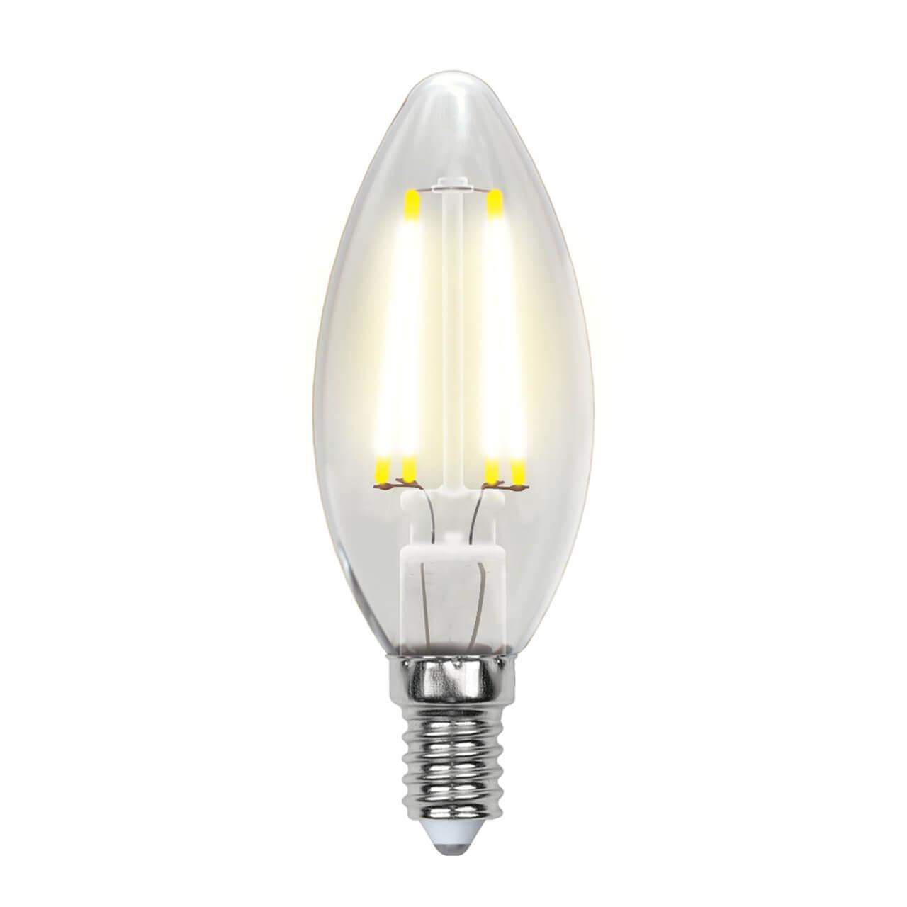 цена на Лампочка Uniel LED-C35-6W/NW/E14/CL PLS02WH SKY Candle