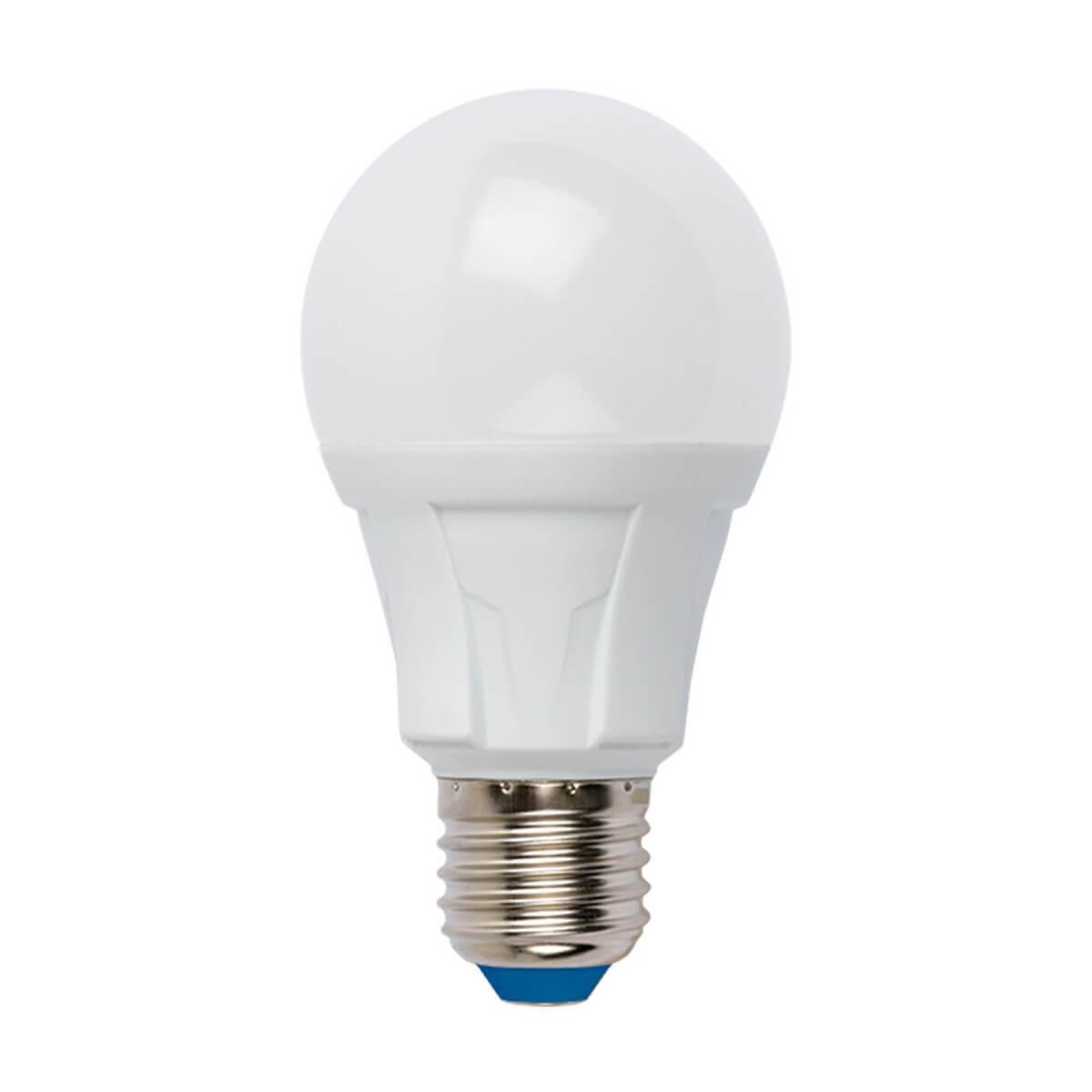 Лампа светодиодная диммируемая (UL-00004287) Uniel E27 10W 3000K матовая LED-A60 10W/3000K/E27/FR/DIM PLP01WH