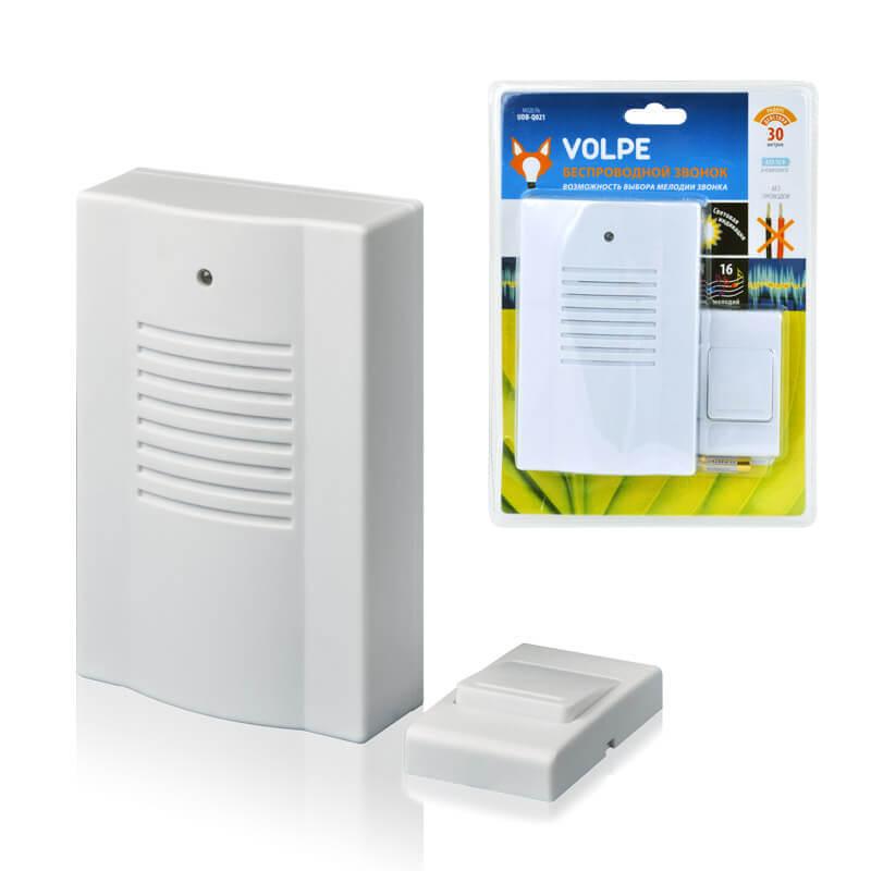 цена на Звонок Volpe UDB-Q021 W-R1T1-16S-30M-WH Звонки беспроводные