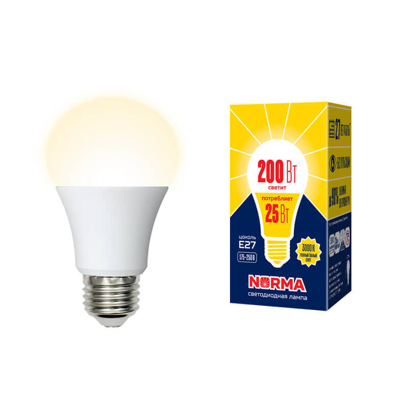 Лампочка Volpe LED-A70-25W/3000K/E27/FR/NR Norma LED-A70