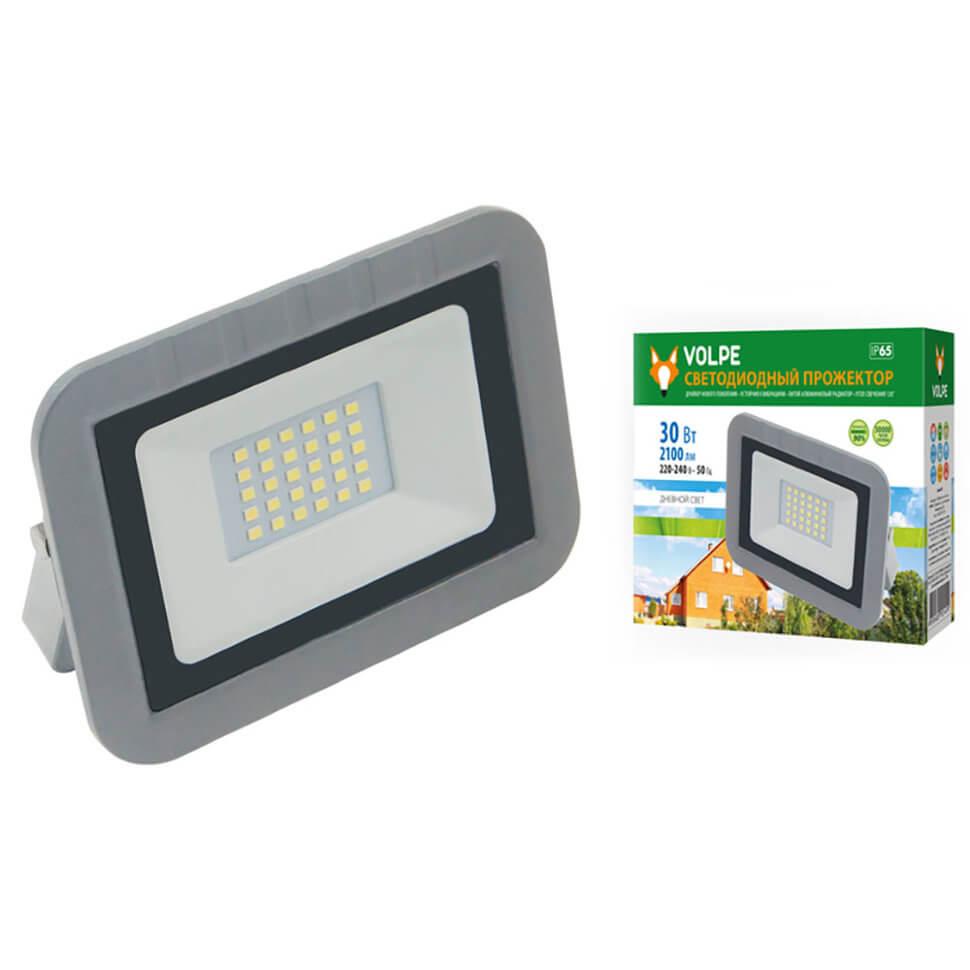 Прожектор светодиодный (UL-00003589) Volpe 10W 6500К ULF-Q591 30W/DW IP65 220-240В Silver