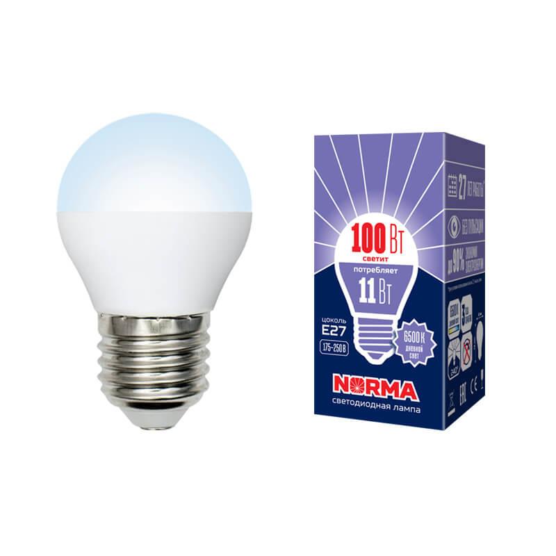 цена на Лампа светодиодная (UL-00003833) E27 11W 6500K матовая LED-G45-11W/DW/E27/FR/NR