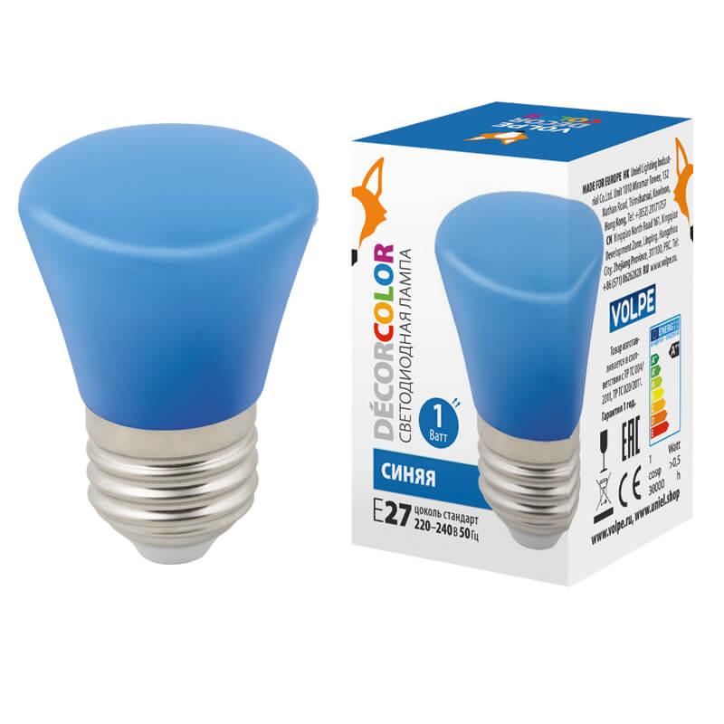 Лампочка Volpe LED-D45-1W/BLUE/E27/FR/С BELL Bell LED-D45 ashley bell