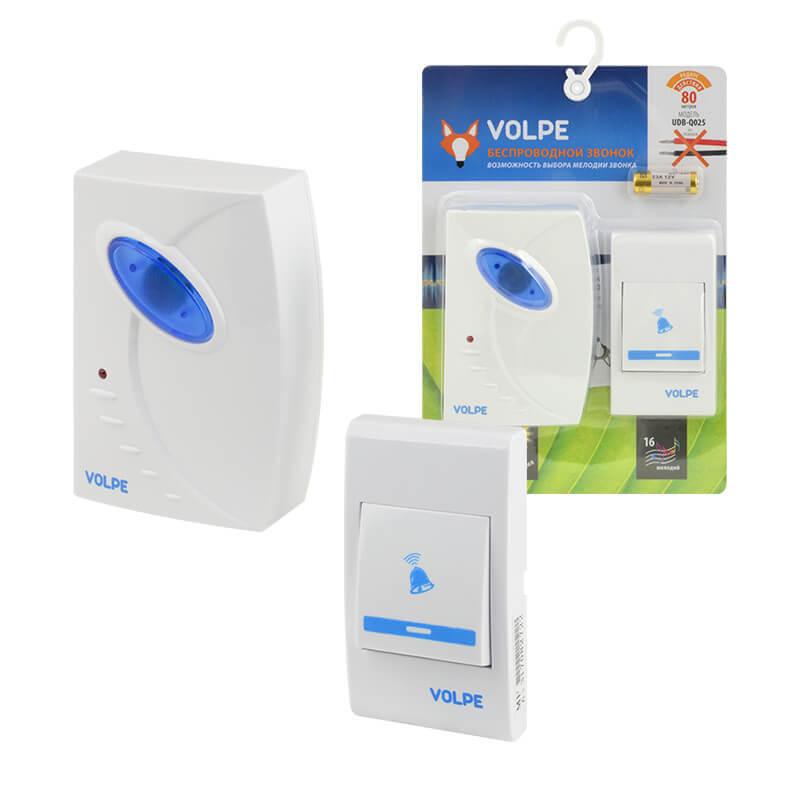 цена на Звонок Volpe UDB-Q025 W-R1T1-16S-80M-WH Звонки беспроводные