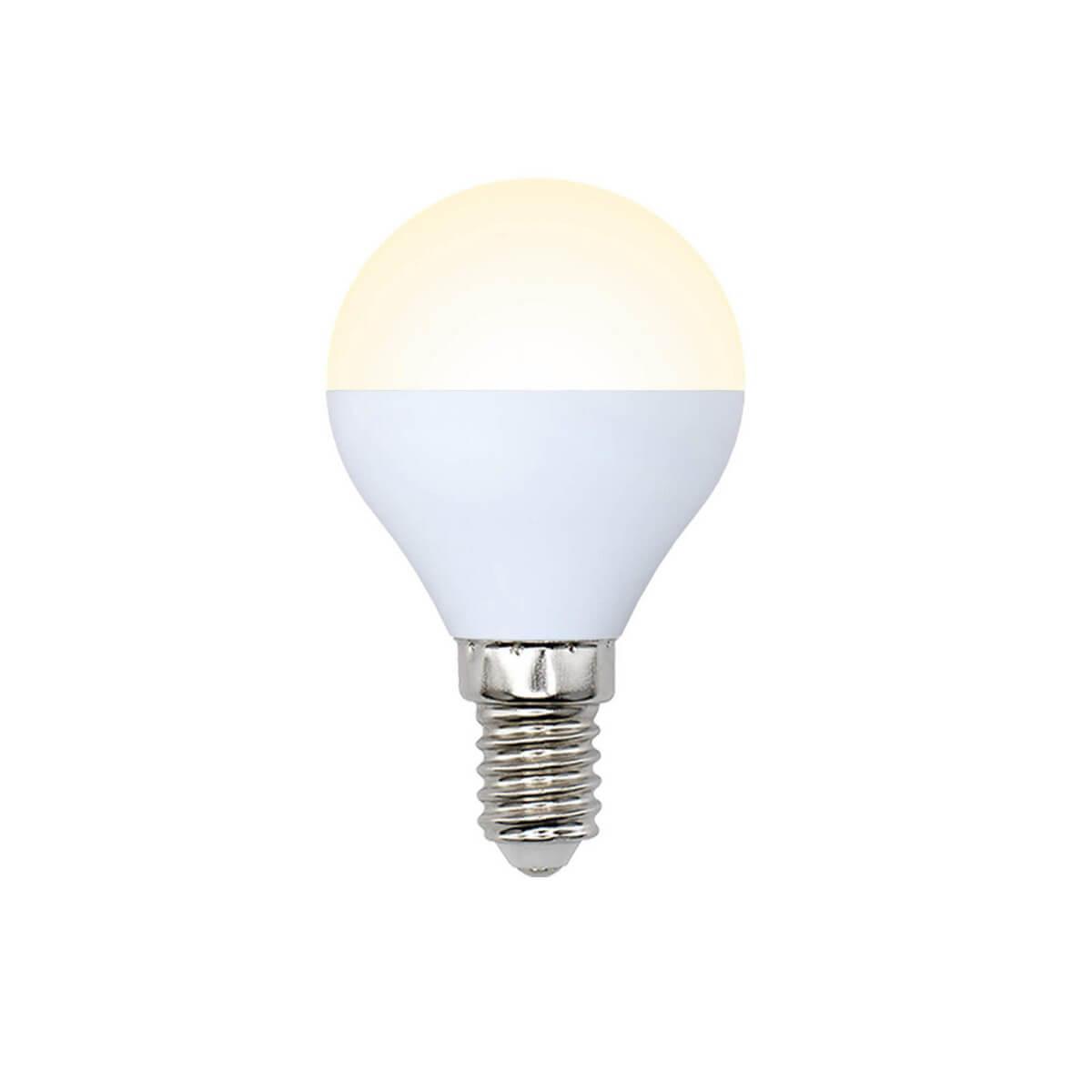 цена на Лампа светодиодная (10217) E14 6W 3000K матовая LED-G45-6W/WW/E14/FR/O