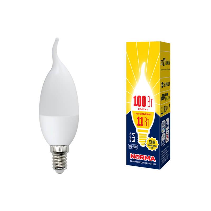 Лампочка Volpe LED-CW37-11W/WW/E14/FR/NR Norma C лампочка volpe led r50 7w ww e14 fr nr norma r