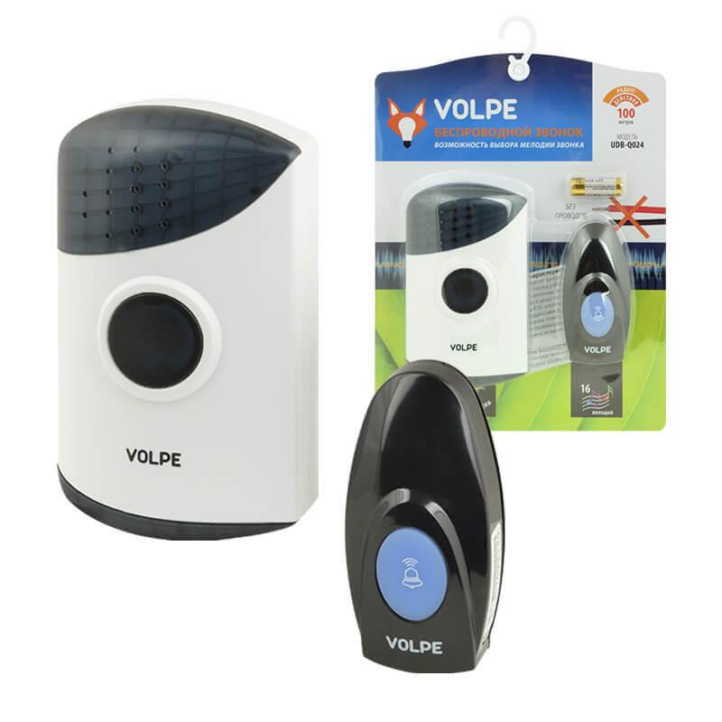 цена на Звонок Volpe UDB-Q024 W-R1T1-16S-100M-WH Звонки беспроводные