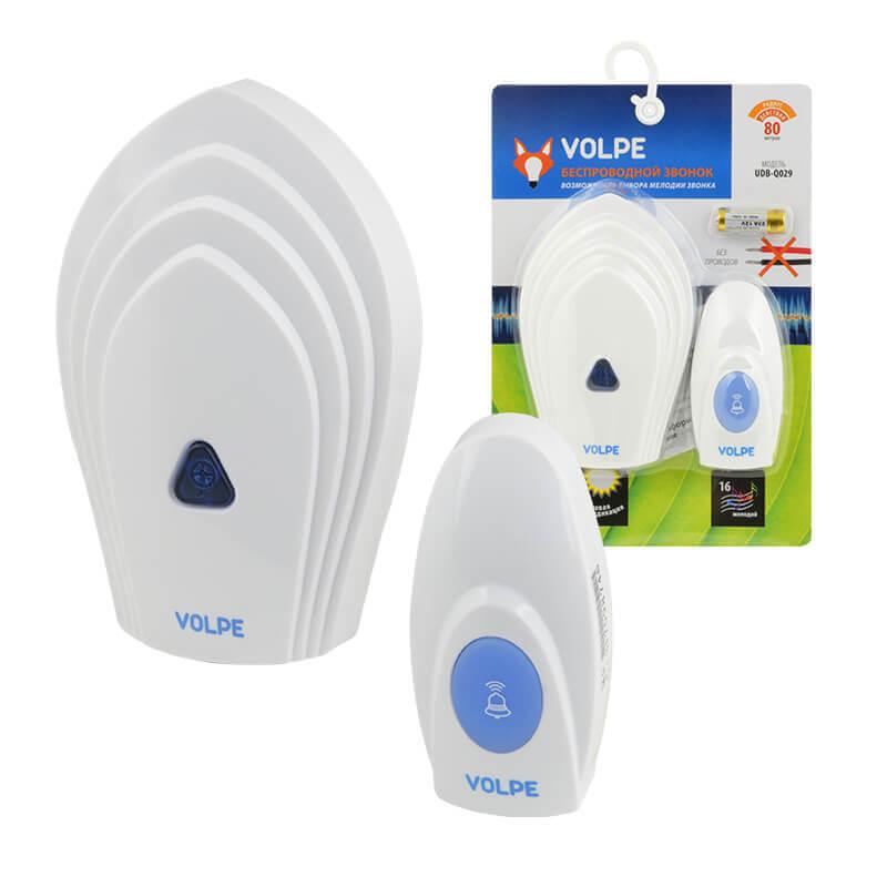 цена на Звонок Volpe UDB-Q029 W-R1T1-16S-80M-WH Звонки беспроводные