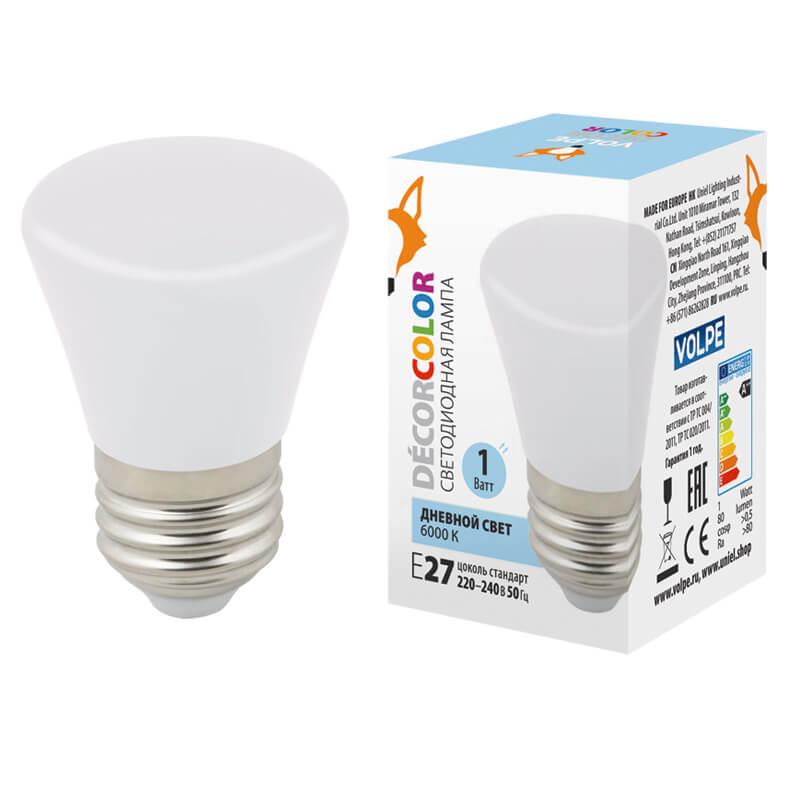Лампочка Volpe LED-D45-1W/6000K/E27/FR/С BELL Bell LED-D45