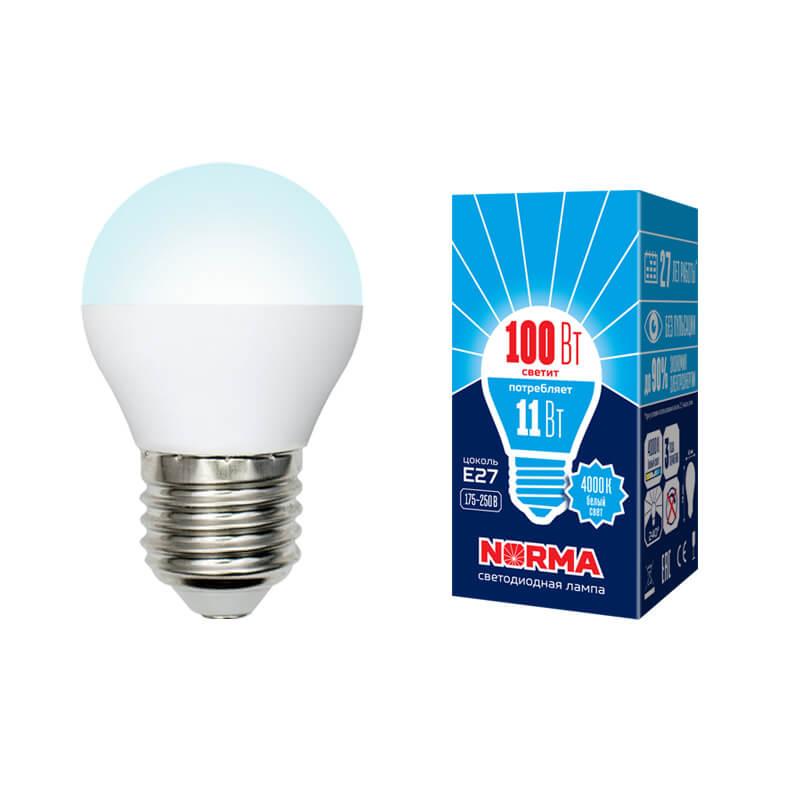 Лампочка Volpe LED-G45-11W/NW/E27/FR/NR Norma G недорого
