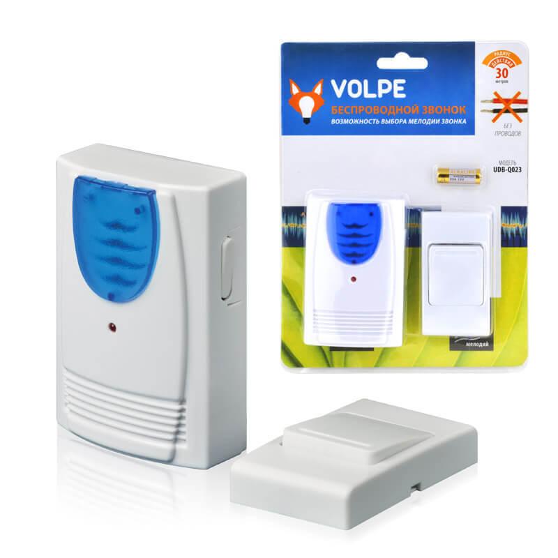 цена на Звонок Volpe UDB-Q023 W-R1T1-16S-30M-WH Звонки беспроводные