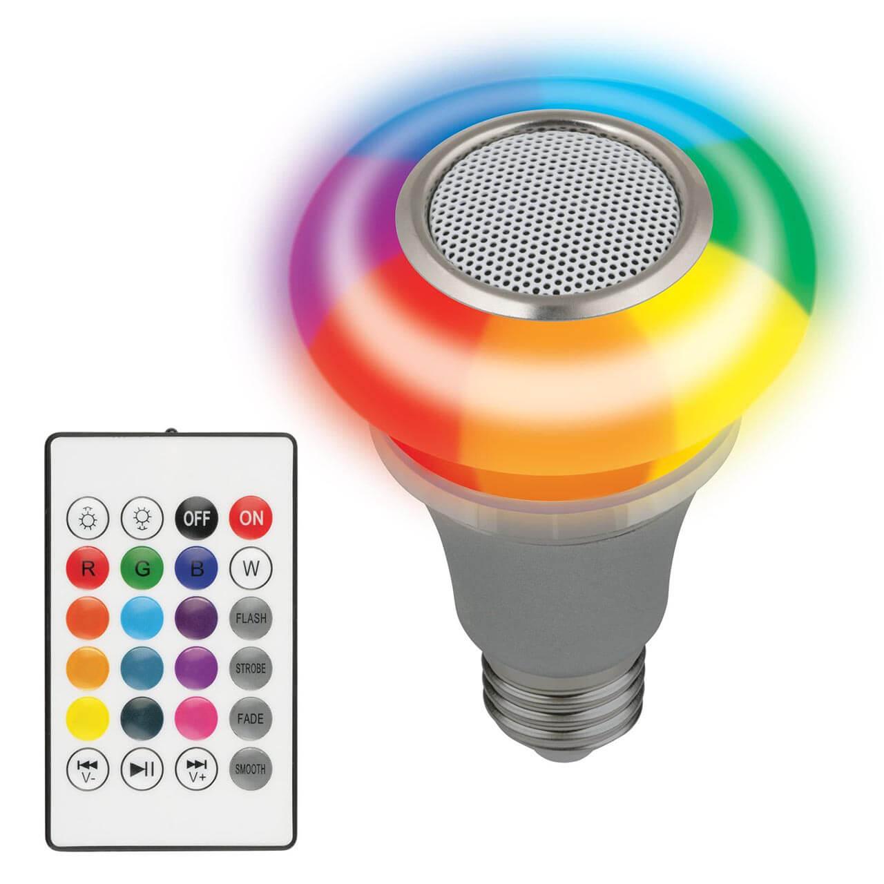 Светильник Volpe ULI-Q340 5W/RGB/E27 Silver Disko (Воспроизводит музыку (Bluetooth))