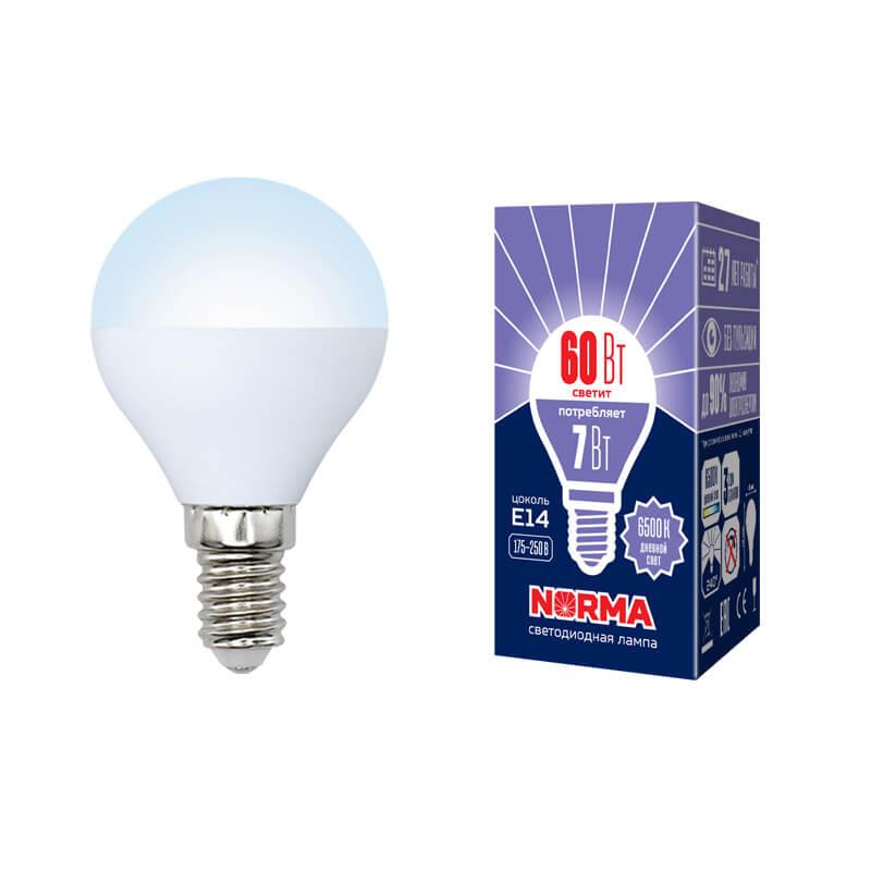 Лампочка Volpe LED-G45-7W/DW/E14/FR/NR Norma G лампочка volpe led r50 7w ww e14 fr nr norma r
