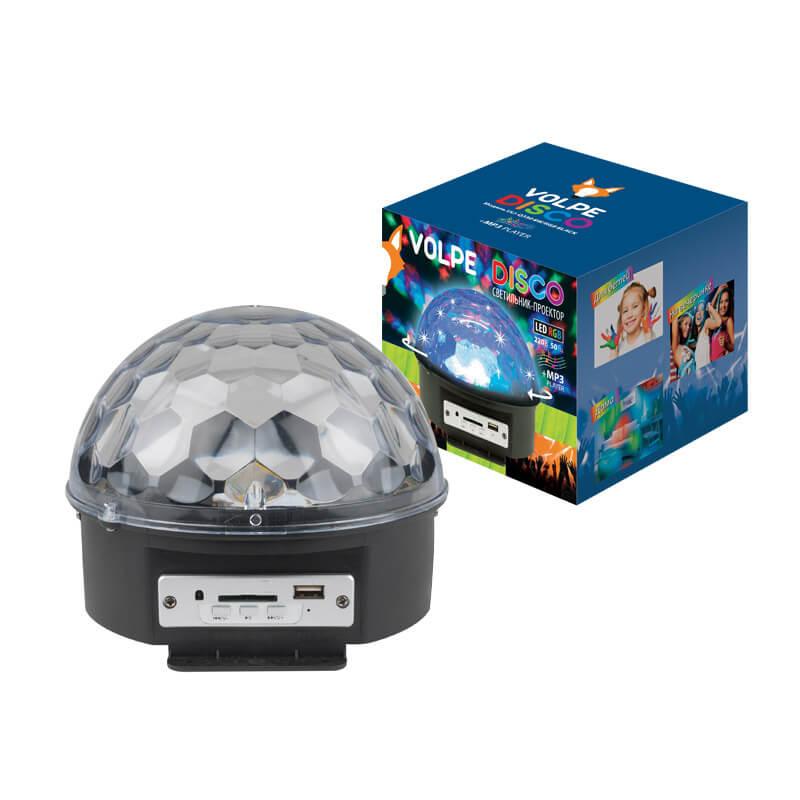 Светодиодный светильник-проектор (UL-00000301) Volpe Disco ULI-Q330 8W/RGB BLACK цены