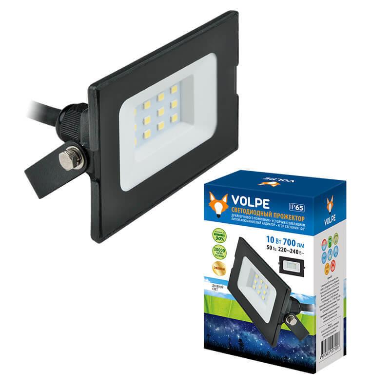 Прожектор светодиодный (UL-00003983) Volpe ULF-Q513 10W/DW IP65 220-240В Black