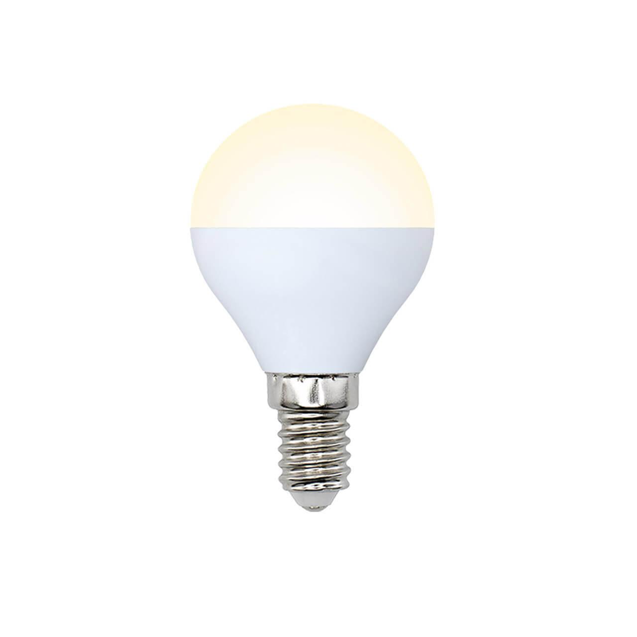 Лампа светодиодная (UL-00001779) E14 8W 3000K матовая LED-G45-8W/WW/E14/FR/O цена и фото