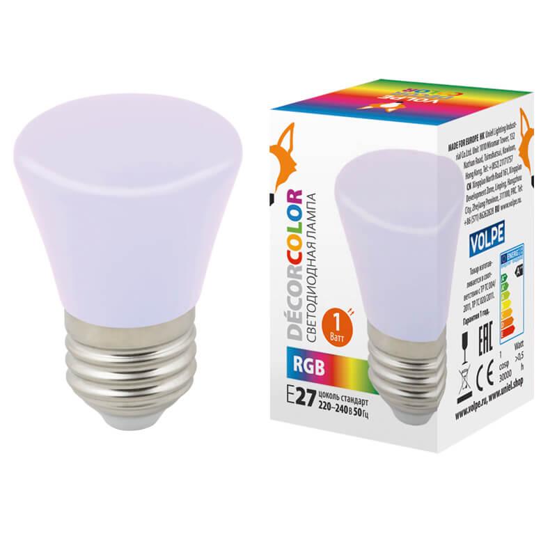 Лампочка Volpe LED-D45-1W/RGB/E27/FR/С BELL Bell LED-D45 (Цветовая температура: RGB)