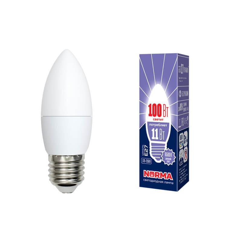 цена на Лампа светодиодная (UL-00003813) E27 11W 6500K матовая LED-C37-11W/DW/E27/FR/NR