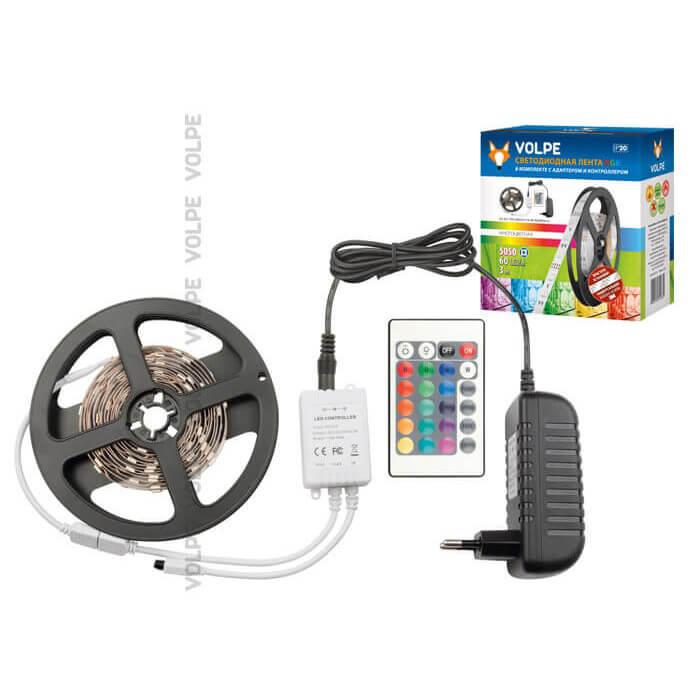 Светодиодная лента Volpe ULS-Q221 5050-60LED/m-IP20-3M-RGB RRP36C24 ULS-Q121