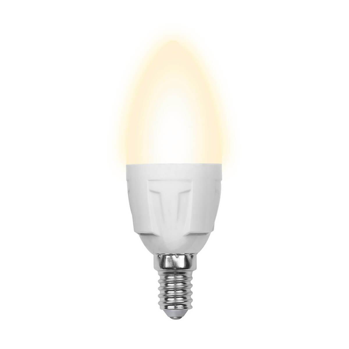 Лампа светодиодная (10214) E14 6W 3000K матовая LED-C37-6W/WW/E14/FR/O цена в Москве и Питере