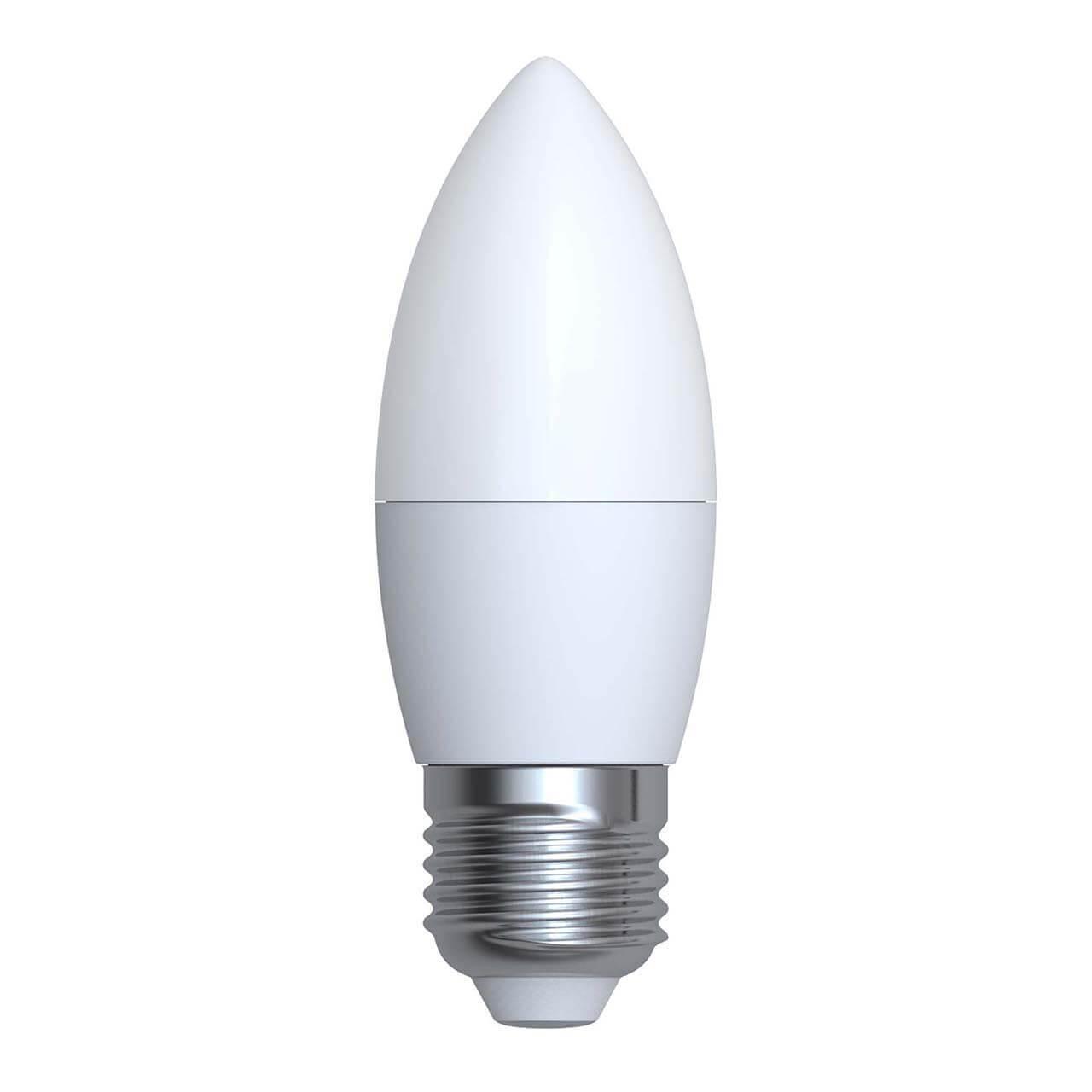 Лампа светодиодная (UL-00001068) E27 6W 6500K матовая LED-C37-6W/DW/E27/FR/O лампа светодиодная e27 6w 3300k матовая 4690389081514