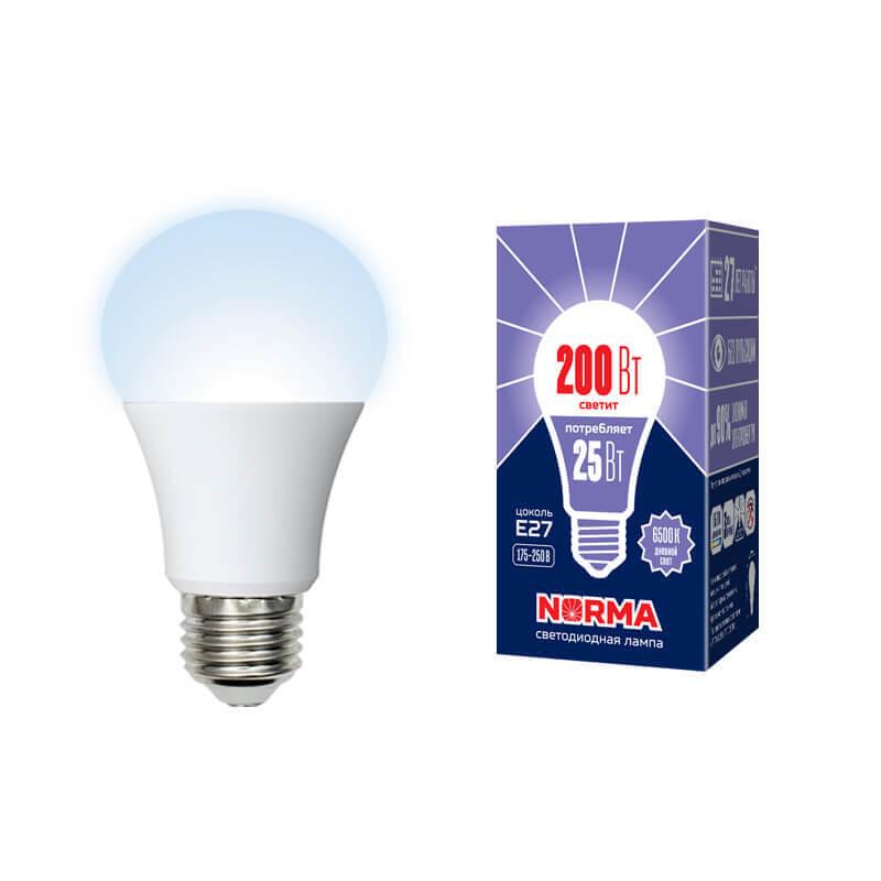 Лампа светодиодная (UL-00004471) E27 25W 6500K матовая LED-A70-25W/6500K/E27/FR/NR