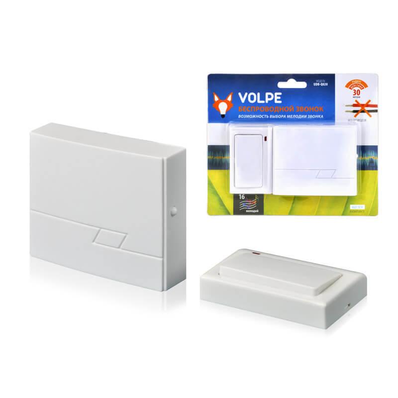 цена на Звонок Volpe UDB-Q020 W-R1T1-16S-30M-WH Звонки беспроводные