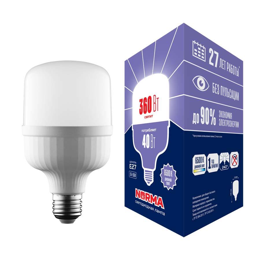 Лампочка Volpe LED-M80-40W/6500K/E27/FR/NR Norma LED-M80