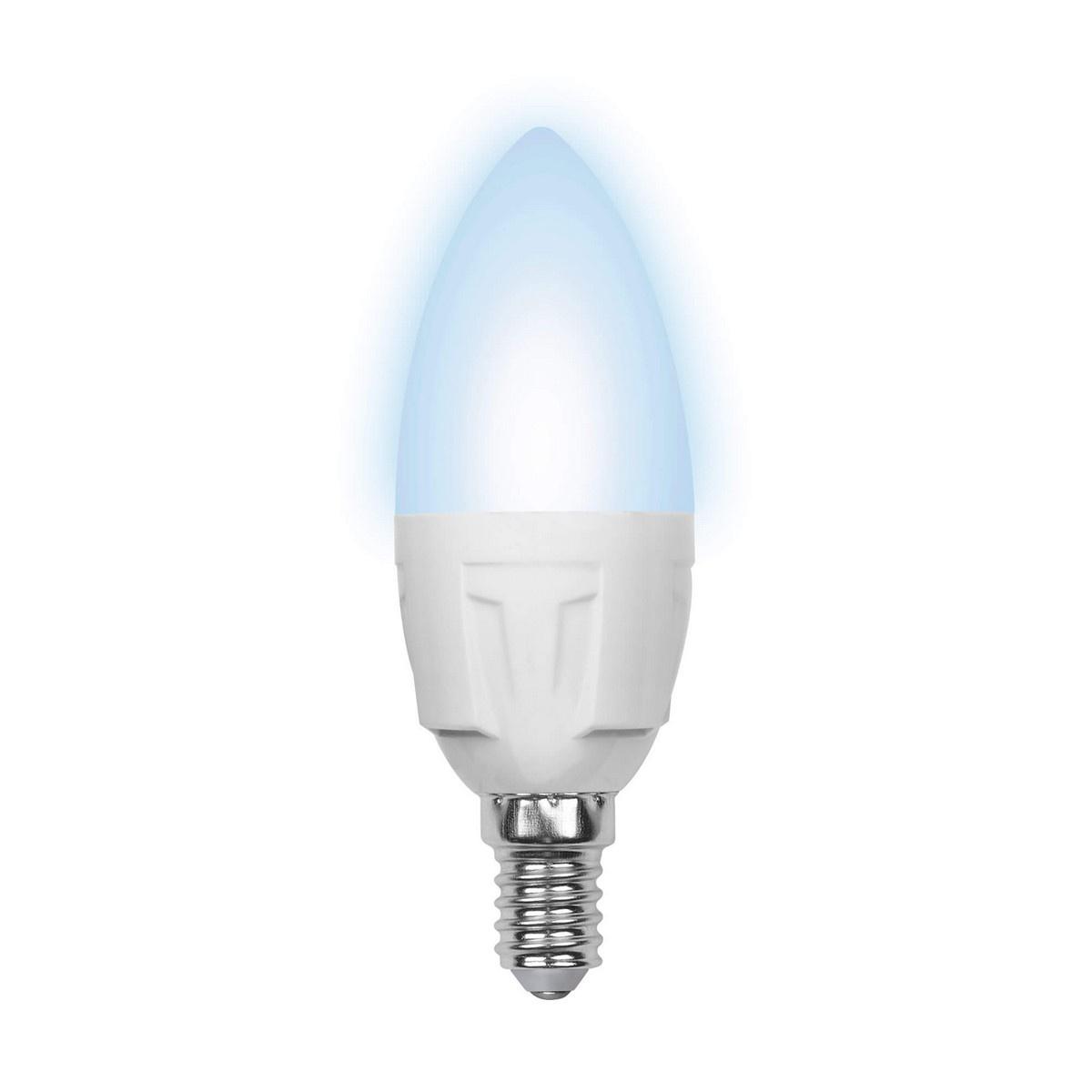 цена на Лампа светодиодная (09454) E14 6W 4500K матовая LED-C37-6W/NW/E14/FR/S