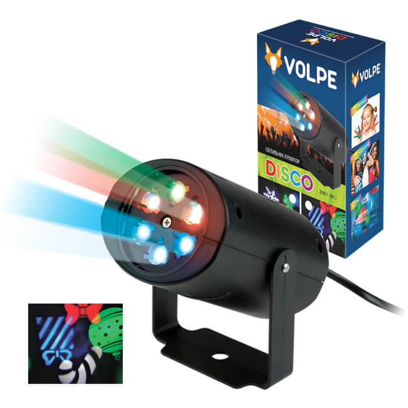 Интерьерные украшения Volpe ULI-Q306 4W/RGB BLACK XMAS Disco