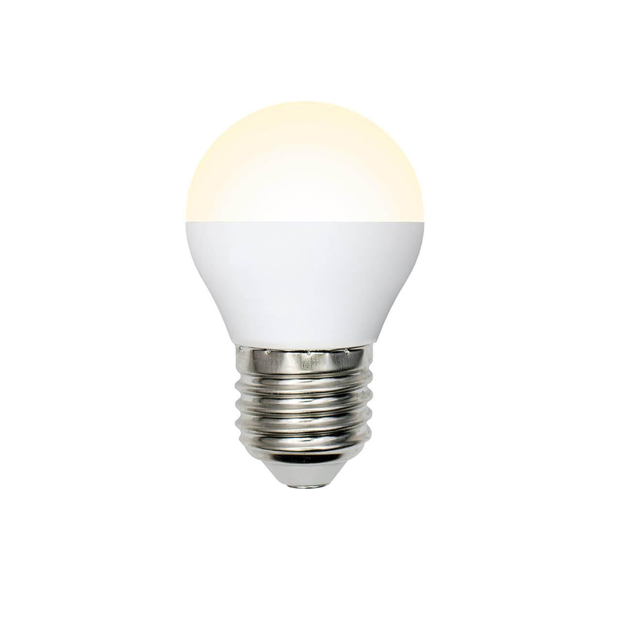 Лампа светодиодная (UL-00001780) E27 8W 3000K матовая LED-G45-8W/WW/E27/FR/O