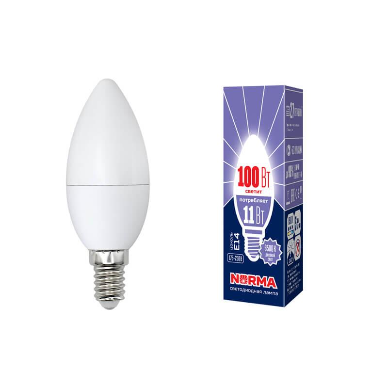 цена на Лампа светодиодная (UL-00003810) E14 11W 6500K матовая LED-C37-11W/DW/E14/FR/NR
