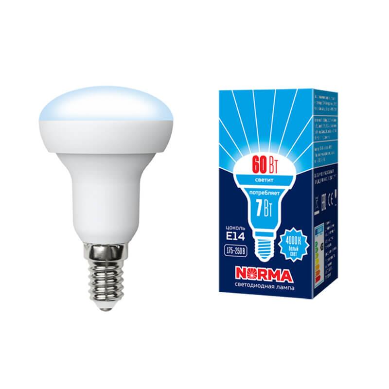 Лампочка Volpe LED-R50-7W/NW/E14/FR/NR Norma R лампочка volpe led r50 7w ww e14 fr nr norma r