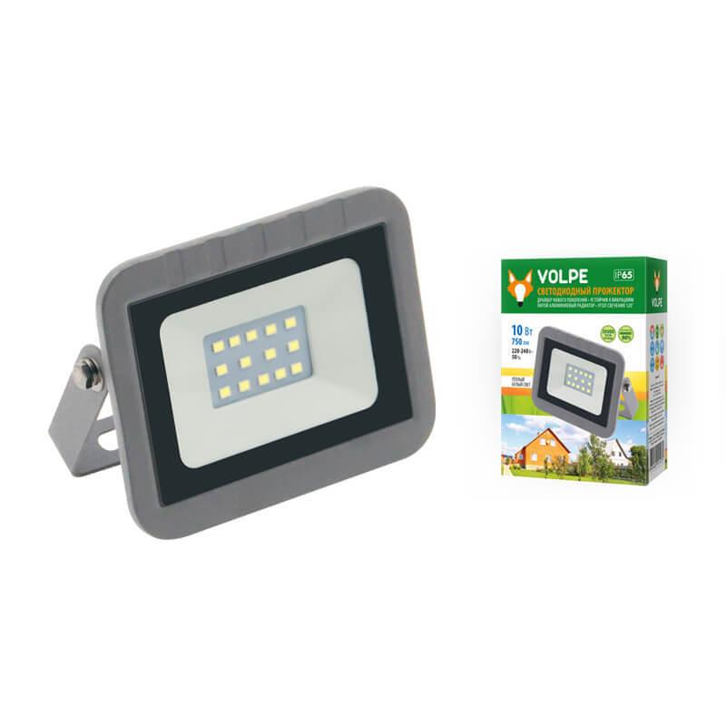 Прожектор светодиодный (UL-00003588) Volpe 10W 3000К ULF-Q591 10W/WW IP65 220-240В Silver