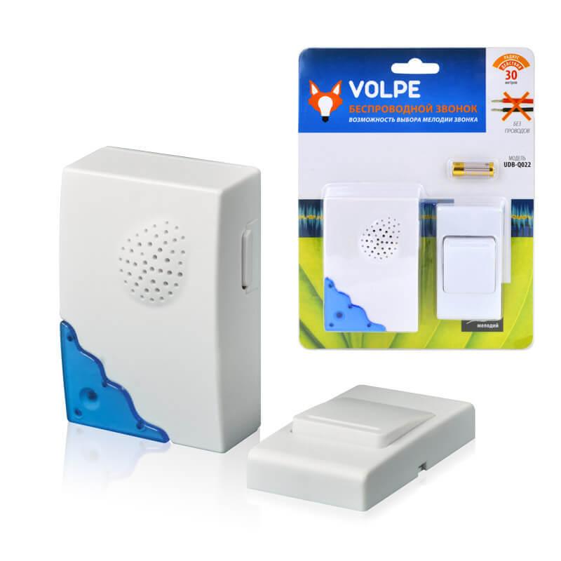 цена на Звонок Volpe UDB-Q022 W-R1T1-16S-30M-WH Звонки беспроводные