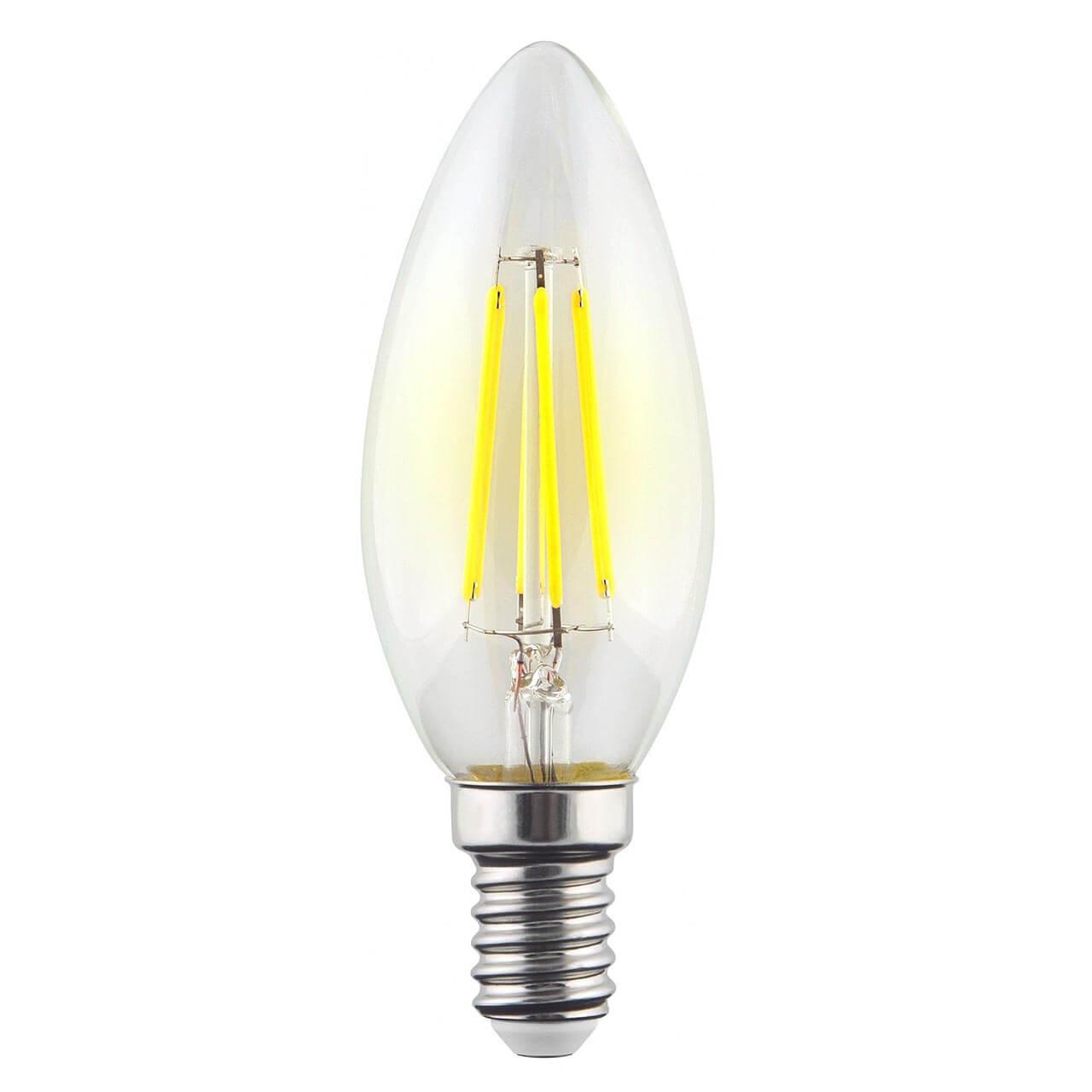 Лампа светодиодная филаментная Voltega E14 9W 2800К прозрачная VG10-C1E14warm9W-F 7096 ретро лампа 5928 voltega