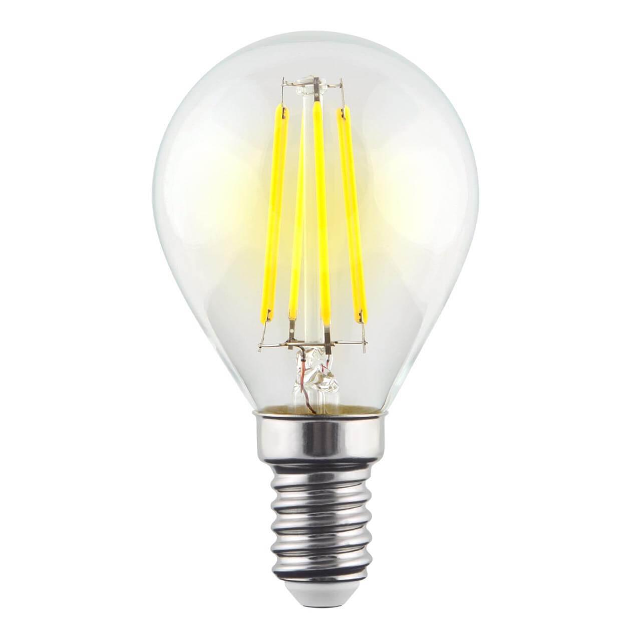 Лампа светодиодная филаментная Voltega E14 9W 4000К прозрачная VG10-G1E14cold9W-F 7099 ретро лампа 5928 voltega