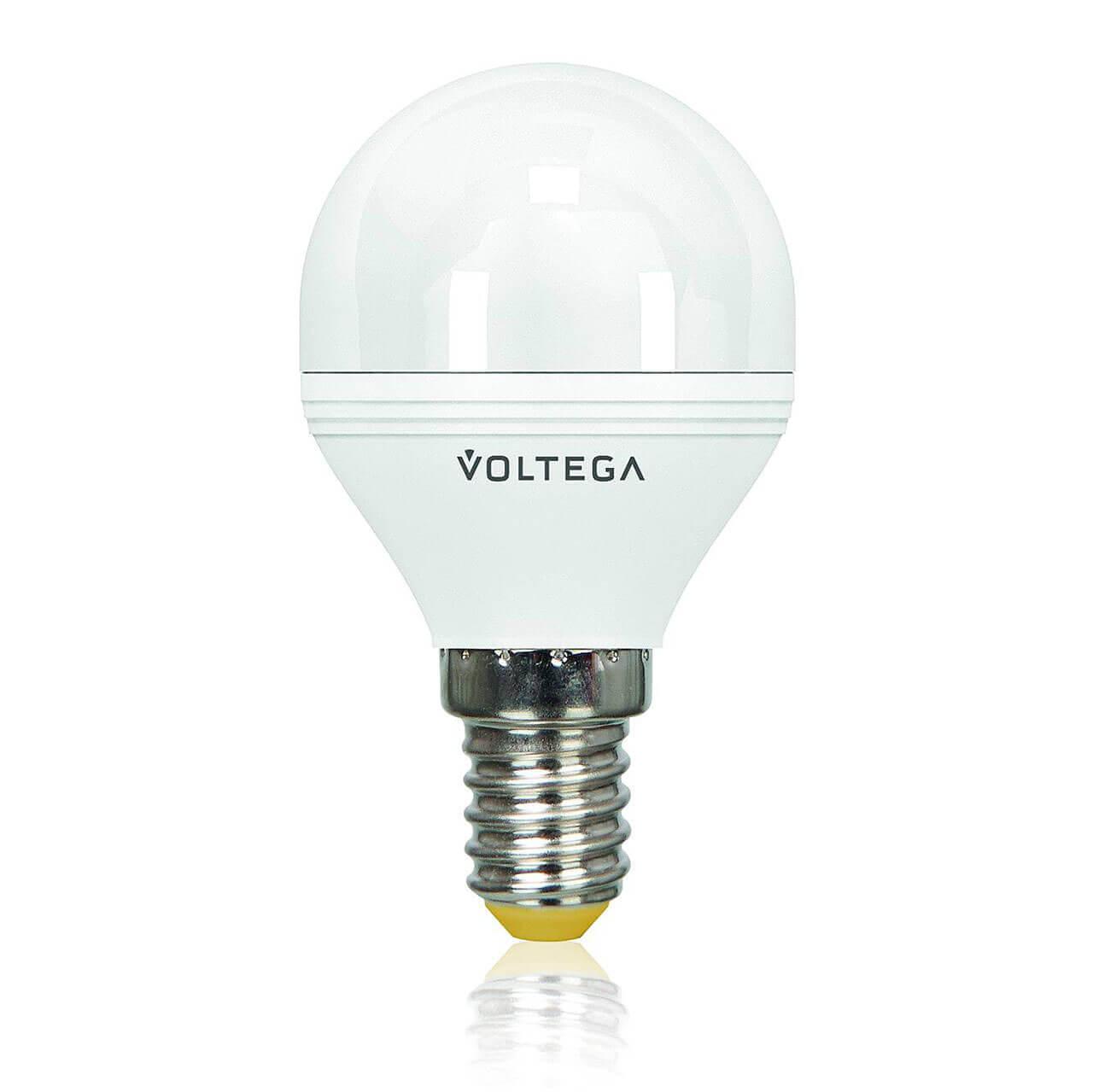 Лампа светодиодная диммируемая Voltega E14 6W 4000К матовая VG2-G2E14cold6W-D 5494 voltega лампа светодиодная voltega рефлектор матовый e14 5 4w 4000к vg4 rm2e14cold5w 5756