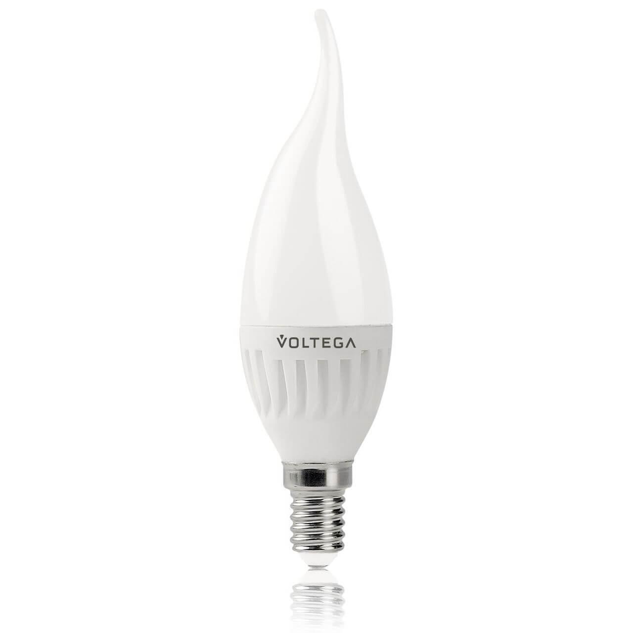 Лампа светодиодная Voltega E14 6.5W 4000К матовая VG1-CW2E14cold6W 5720 voltega лампа светодиодная voltega рефлектор матовый e14 5 4w 4000к vg4 rm2e14cold5w 5756