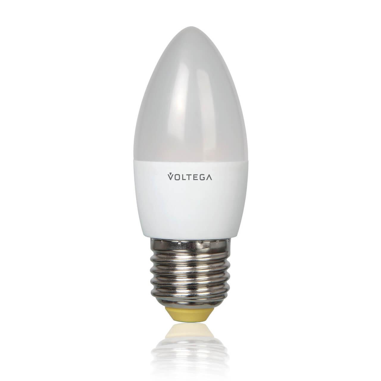Лампа светодиодная Voltega E27 5.4W 4000К матовая VG4-C2E27cold5W 5744 voltega лампа светодиодная voltega рефлектор матовый e14 5 4w 4000к vg4 rm2e14cold5w 5756